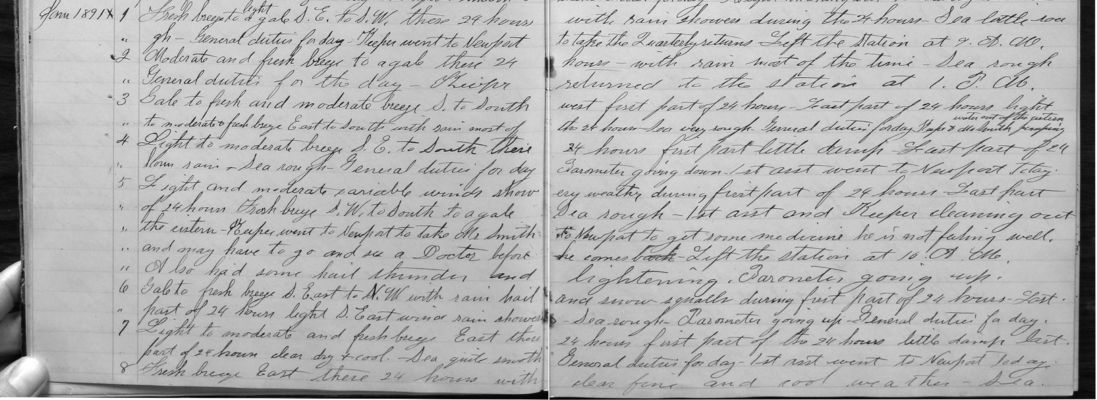 1891 Lighthouse Keepers Logs