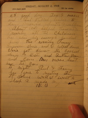 Friday, August  2, 1918